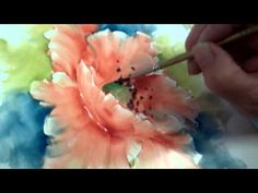 ▶ Porcelain Painting -Chris Ryder -Impressionistic Poppy Final Stage - YouTube