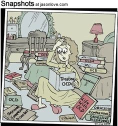 Obsessive-compulsive Cartoons and Comics - funny pictures from CartoonStock Mental Health Humor, Mental Health Advocacy, Ocd Humor, What Is Ptsd, Psych Major, Therapy Humor, Psychology Humor, My Ocd, Daily Jokes