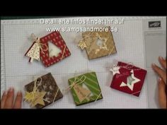 ▶ Mini Triangle Gift Box - By Teri Pocock Stampin' Up! UK Independent Demonstrator - YouTube