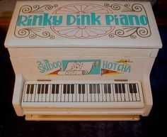 Vintage Rinky Dink Piano Music and Jewelry Box Child Girls
