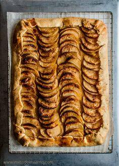 Receta de tarta fina de manzana fácil, estilo galette, con base de masa quebrada