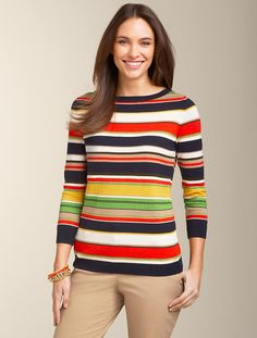 Talbots - Mixed-Stripe Sweater | Sweaters | Petites
