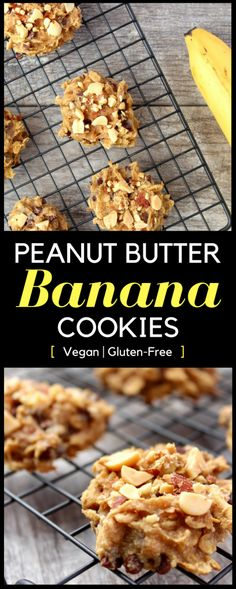These Peanut Butter Banana Cookies are an easy, delicious, and nutritious way to satisfy your sweet tooth! A vegan and gluten-free treat that's ready in under 15 minutes.   www.bytesizednutrition.com