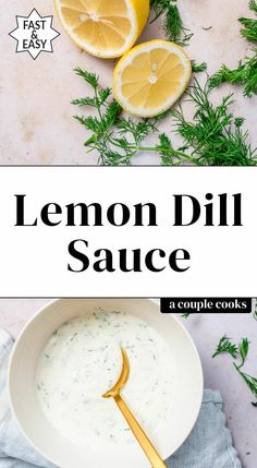This lemon dill sauce is quick and easy! It takes just 5 minutes to stir together and is perfect on salmon or as a dip for veggies. #dillsauce #lemondillsauce #dill #dillrecipe #dillsauceforsalmon Dill Sauce For Salmon, Lemon Dill Salmon, Lemon Dill Sauce, Creamy Dill Sauce, Salmon And Asparagus, Grilled Asparagus, Dill Recipes, Sauce Recipes, Healthy Recipes