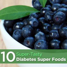 Blueberries and 10 super tasty diabetes super foods If we were to eat a cup of blueberries a day, this could potentially help women prevent gestational diabetes because it improves glucose metabolism.