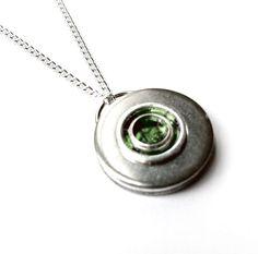 Green Stainless Steel Pendant - $24.99, via etsy.com / Loralyn Designs