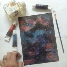#oilpainting #galaxypainting #nebula #artspace #art #maries #milkywaygazer #milkyway #blackpaperart #blackapaper