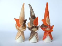 Autumn Gnomes for your Nature Table, Made with 100% wool Felt