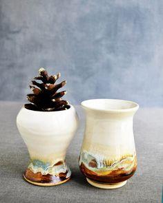 new series, Belonging, 2 vases in yin/yang shapes