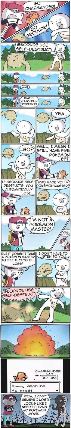 Geodude, use Self-Destruct!
