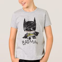 b3358c327b Mini Classic Batman Sketch T-Shirt Camisa Super-homem