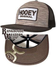 #GetYourHOOey, Brown Original Trucker, Hybrid Bill, Patch, Snapback, Rodeo, Hooey Cap, Cowboy Hat, $29.98, now @ http://bunkhousewestern.com/hobt