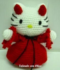 Hello Kitty Kimono Amigurumi Patron : Hello Kitty free crochet pattern on Pinterest Hello ...