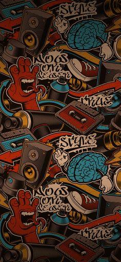 Sticker Bomb Wallpaper, Graffiti Wallpaper Iphone, Flash Wallpaper, Iphone Homescreen Wallpaper, Black Phone Wallpaper, Pop Art Wallpaper, Iphone Background Wallpaper, Apple Wallpaper, Galaxy Wallpaper