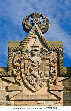 Shield of William Wallace Monument,Stirling,Scotland.