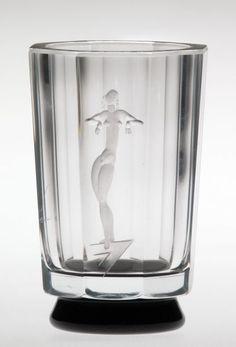 Art Deco vase by Simon Gate, Orrefors, Sweden, around 1932.