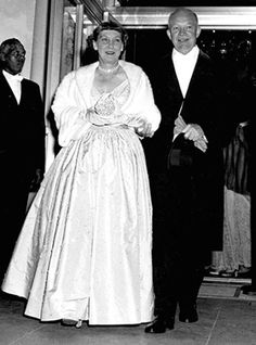 Mamie Eisenhower in 1953 at the Inauguration