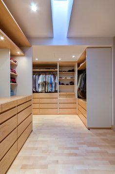 wardrobe with skylight