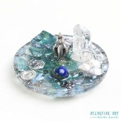 ジオラマオルゴナイト第4弾♪マリア・癒しの泉|ATLANTIAN ART~天然石アクセサリー・点画・オルゴナイト