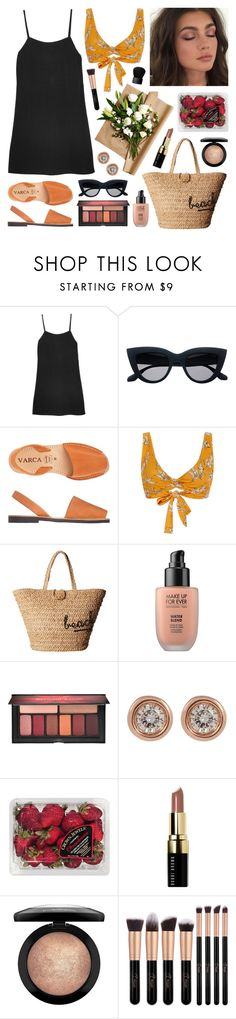 """""""Camp Koala"""" by sophiehackett ❤ liked on Polyvore featuring Reformation, Toast, Camp Cove, Hat Attack, MAKE UP FOR EVER, Smashbox, Ron Hami, FRUIT, Bobbi Brown Cosmetics and MAC Cosmetics"""