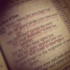 Isaiah 60. We are the light!