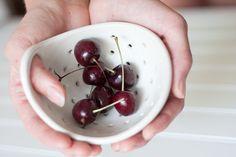 fringe + fettle - s white colander bowl