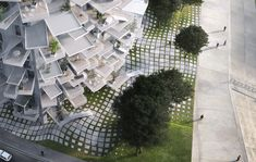 Tree-Inspired Housing Tower for Montpellier ... Competition: La Folie architecturale de Richter | Award: First Prize | Project Name: L'Arbre Blanc (The White Tree) | Architects: Sou Fujimoto Architects, Nicolas Laisné Associés, Manal Rachdi Oxo Architects | Location: Montpellier, France | Renderings / Photographs: RSI studio, Manal Rachdi OXO