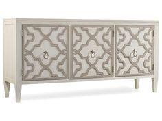 72 X 19 X 36 No drawers. Hooker Furniture Melange Miranda Credenza 638-85189