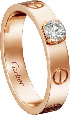 Anel solitário Ouro rosa, diamante Anel Solitario Ouro, Anel Solitário, Ouro  Rosa, 589a086f9a