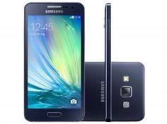 "Smartphone Samsung Galaxy A3 Duos Dual Chip 4G - Android 4.4 Câm. 8MP Tela 4.5"" Desbl. Vivo"