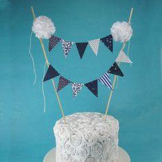 Cake topper wedding Navy cake Banner G022  by Hartranftdesign, $28.00