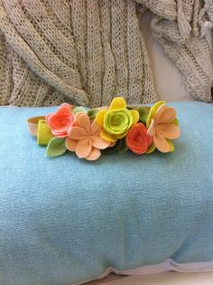 Felt Flower Crown // Garden Collection // by fancyfreefinery, $13.50