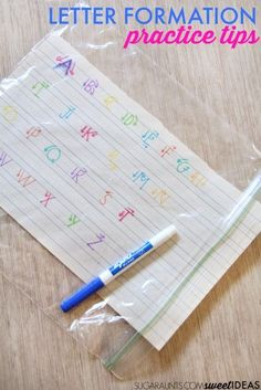 Use these letter construction tips to help kids learn accurate letter formation to help with legibility and neat handwriting. Perfect for my homeschool writing unit. Handwriting Activities, Neat Handwriting, Improve Your Handwriting, Alphabet Activities, Kindergarten Learning, Learning To Write, Preschool Activities, Kids Learning, Pre Writing