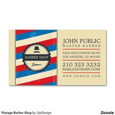 Free retro barber shop business card psd template freepsdfiles vintage barber shop double sided standard business cards pack of 100 custom business card template designed for barber shops using the famous barber shop accmission Gallery