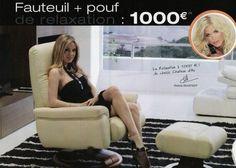 Fauteuil + pouf
