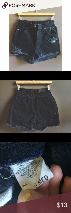 ✨Vintage Black Cutoff Jean Shorts✨ Black Lee Jean Shorts cut and distressed by me! These are thicker material.. Size is 9 but I wear 3-5 so I would say closer to a 5.. Great unique shorts!! Make me an offer 😘😘 Vintage Shorts Jean Shorts