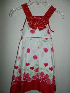 GIRL'S YOUNG HEARTS RED AND WHITE COTTON DRESS NWT SIZE 5