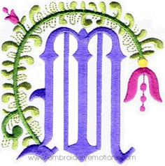 Floral Alphabet Embroidery Designs   Flickr - Photo Sharing!