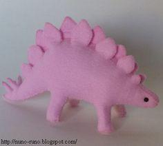 DIY Stuffed Pink Stegosaurus // tutorial + pattern ... cute!