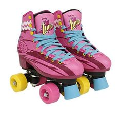 Learn to skate and have fun with these fabulous Roller Skateboards. SIZE EU SIZE US CM. Tolos new products have manufacturer's warranty. Quad Roller Skates, Roller Derby, Roller Skating, Disney Channel, Rollers, Son Luna, Converse Chuck Taylor, Rubber Rain Boots, Hiking Boots