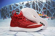 2b3c6a0ed39 Nike LeBron 15. 5 October Red White James Trainers Men s Basketball Shoes  Lebron James Basketball
