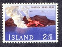 The volcanic island of Surtsey in April 1964