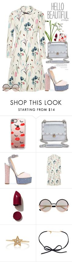 """💕"" by gabyidc ❤ liked on Polyvore featuring Casetify, Fendi, Giuseppe Zanotti, Miu Miu, NARS Cosmetics, Marc by Marc Jacobs, Sydney Evan and DOSE of ROSE"