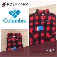 NWT red plaid Columbia 1-4 zip New with tags! Columbia 1/4 zip. Size youth large... Sister size to women's sm/Xs Columbia Tops Sweatshirts & Hoodies