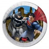 Batman V Superman Paper Party Plates
