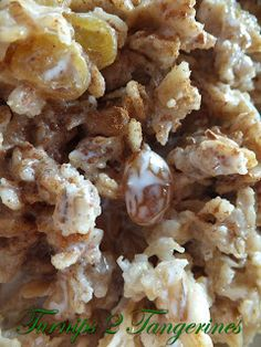 Overnight Crockpot Apple Pie Oatmeal 1 1/2 cup steel cut oats (yes, it has to be steel cut, rolled oats will get to mushy) 2 cups apple juice 2 cups milk 1/2 cup unsweetened applesauce 1/4 cup brown sugar 3 apples, diced 1 Tbsp cinnamon pinch of salt  Mix all ingredients in the crockpot the night before and cook on low for 8-9 hours.