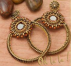 Swarovski Hoop Earrings Beaded by Esther Marker by OhlalaJewelry