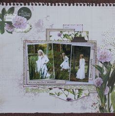 Kaisercraft Botanica - Leonie Neal-Dawson. Mixed Media Techniques, Little Elephant, Photo Layouts, Scrapbooking Layouts, Sketches, Explore, Frame, Blog, Flowers Garden