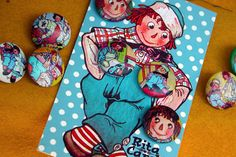 Raggedy Ann & Andy set   This set of buttons was a special r…   Flickr