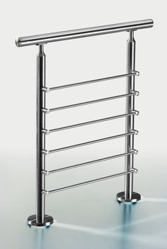 stainless steel railing for stair and deck Interior Stair Railing, Staircase Handrail, Iron Stair Railing, Wrought Iron Stairs, Staircase Design, Pipe Railing, Glass Balcony Railing, Balcony Railing Design, Steel Railing Design